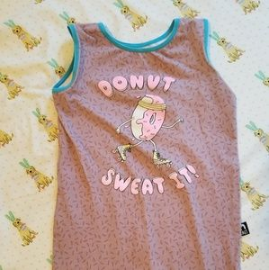Rags to raches 3/4 donut sweat it romper